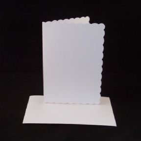 A6 White Scalloped Greeting Card Blanks With Envelopes